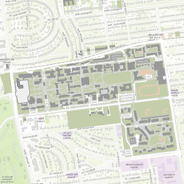 Danforth campus 地图